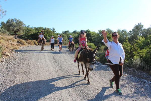 excursion Rhodes à pied et à dos d'âne